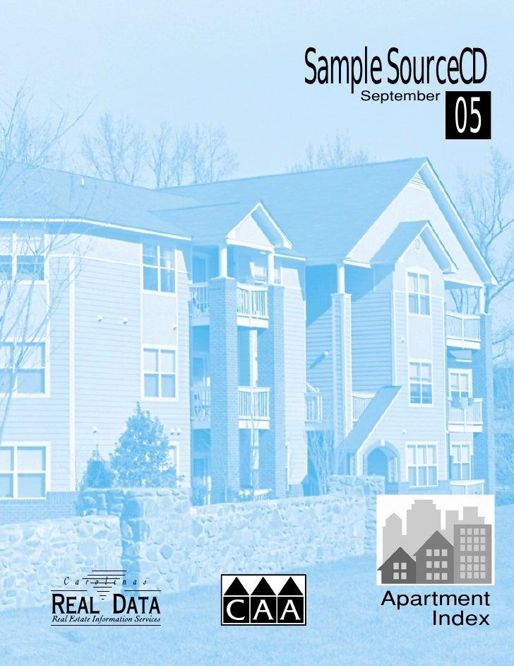 Sample SourceCD     September               05           Apartment           Index