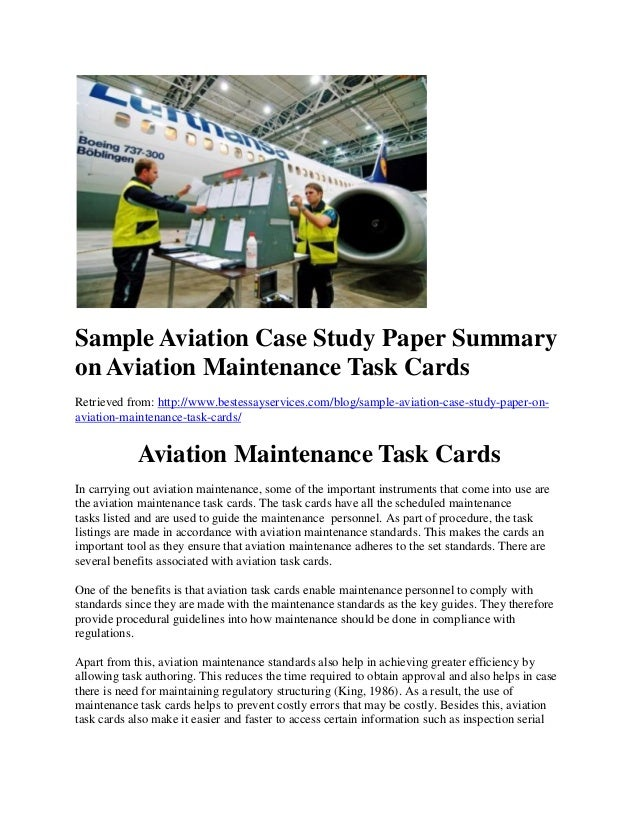 Aviation examples of topics for research paper