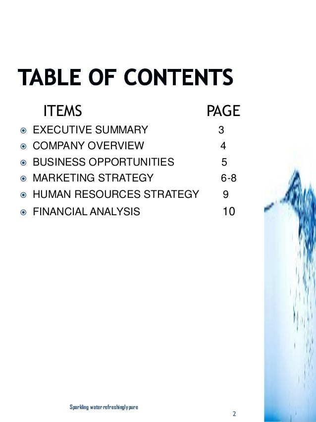 2018 Pure Water/Bottled & Sachet Water Business Plan In Nigeria PDF