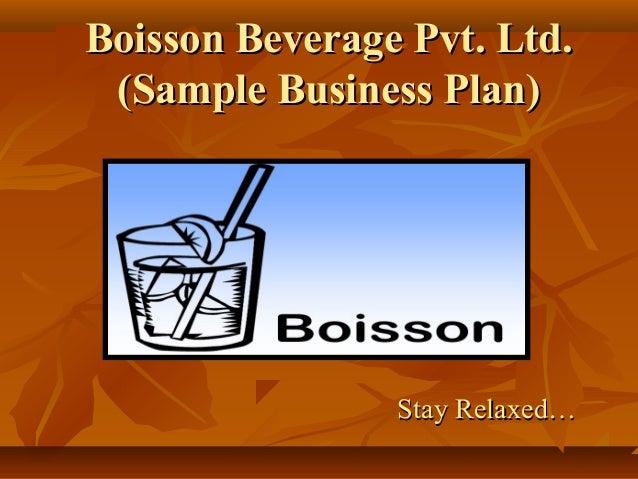 Beverages business plan