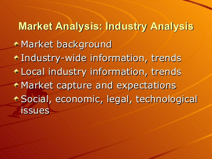 Industry analysis in a business plan