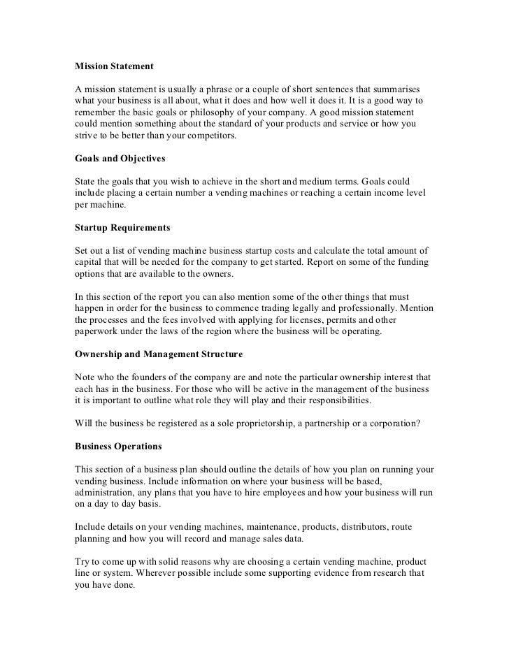 Sample Mission Statement Business Plan Sdlc Essay Questions