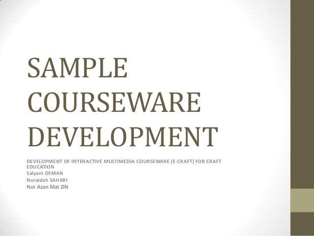 Sample courseware development