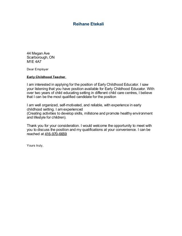 Sample of cover letter for resume pdf