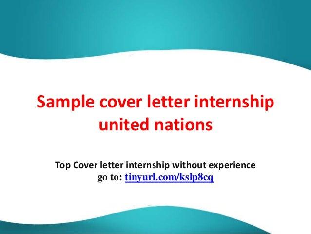 sample cover letter united nations sample cover letter