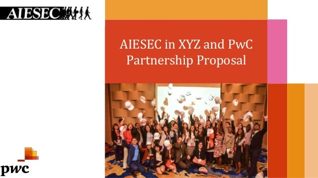 AIESEC in XYZ and PwC Partnership Proposal