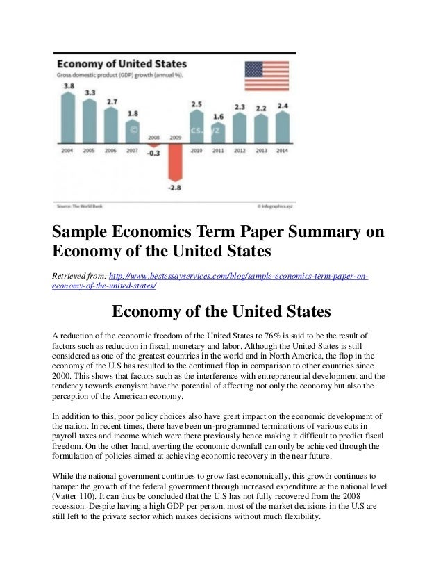 essay economy us Here provided is a non-plagiarized template about the development of economy in the united states feel free to use it to get you paper done successfully.