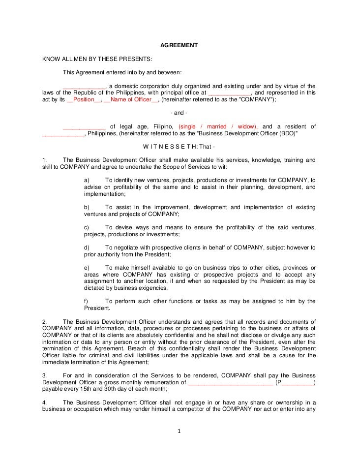 Employment Contract Draft - Free Printable Documents