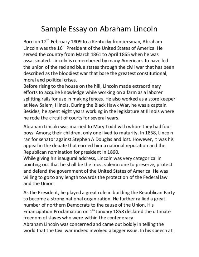 Martin Luther King and Abraham Lincoln Essay. - A-Level History ...
