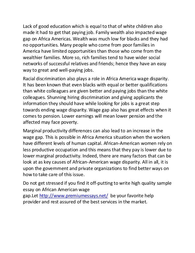 Essay of what is african american