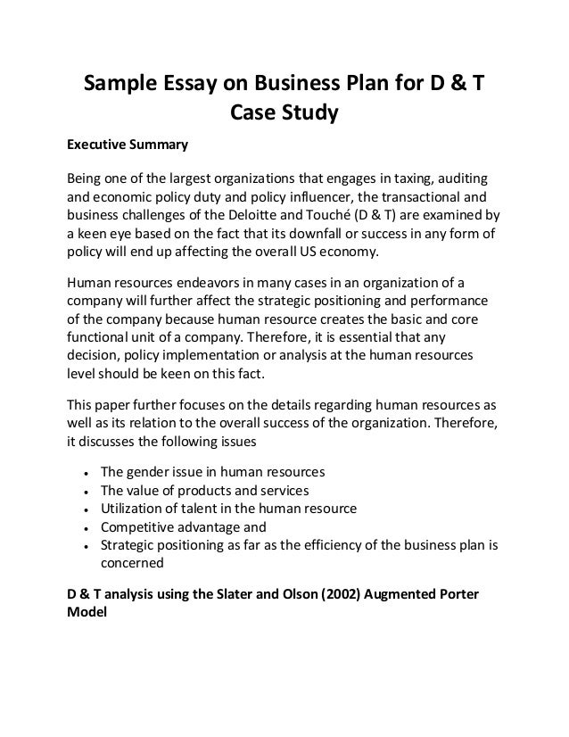 examples of college case study papers
