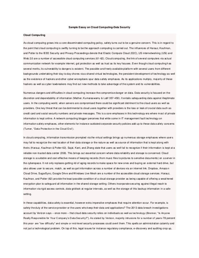 Cloud computing essay