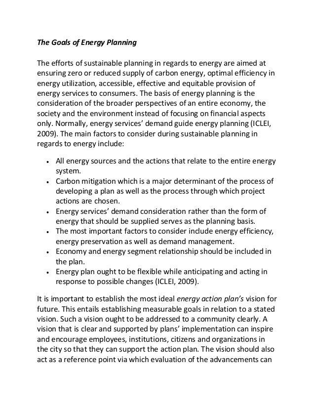 Essay of energy