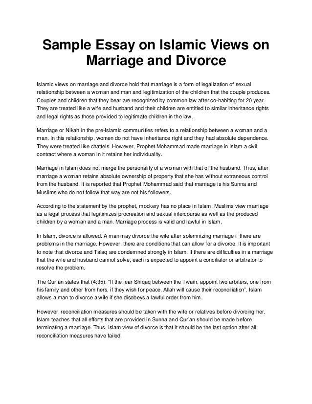 argumentative essays on marriage