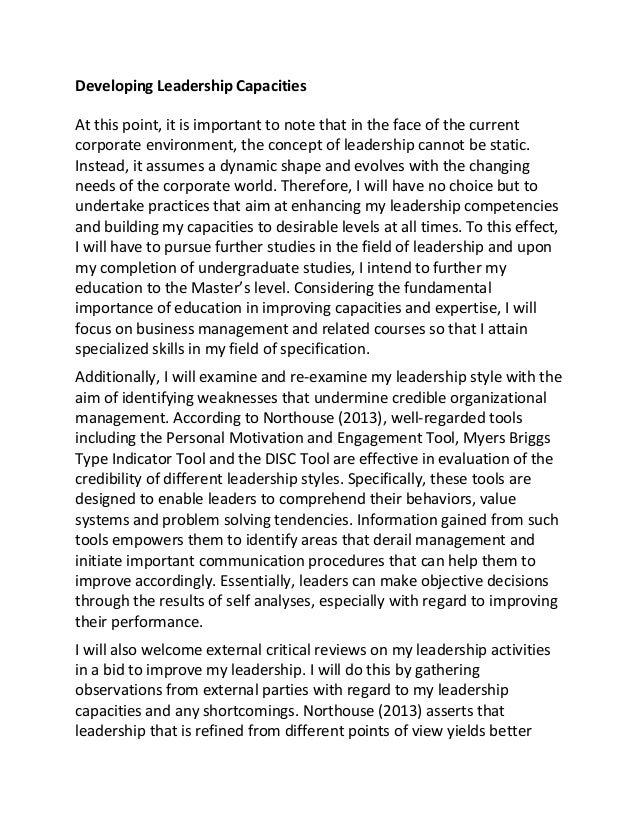 Servant leadership essay