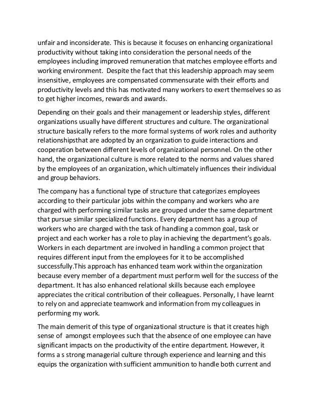 organizational behavior leadership essay
