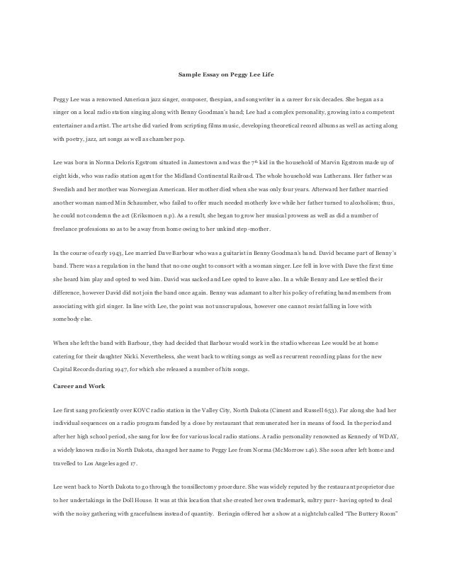 Essay about your experience in life