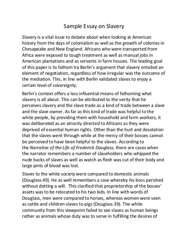 Reflection Paper Essay Sample Of Argumentative Essay About Slavery How To Write A Thesis For A Narrative Essay also Essay Paper Writing Services Example Of Argument Essay Thesis  Essay For You Best Business School Essays