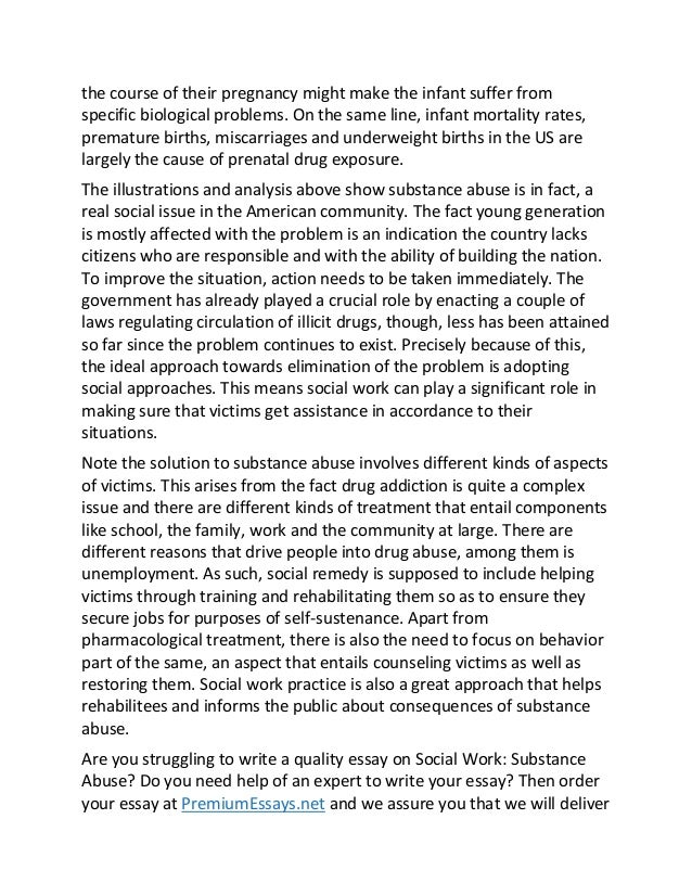 Write an essay on drug abuse a threat to society
