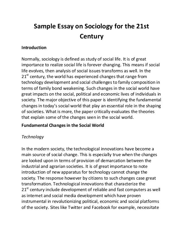 the sociology of family essay Sociology concepts essay  maturational processes make new forms of behavior possible and the child is continuously interacting with his family members,.