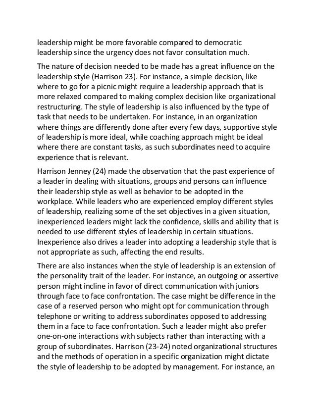 leadership essay effective leadership essay