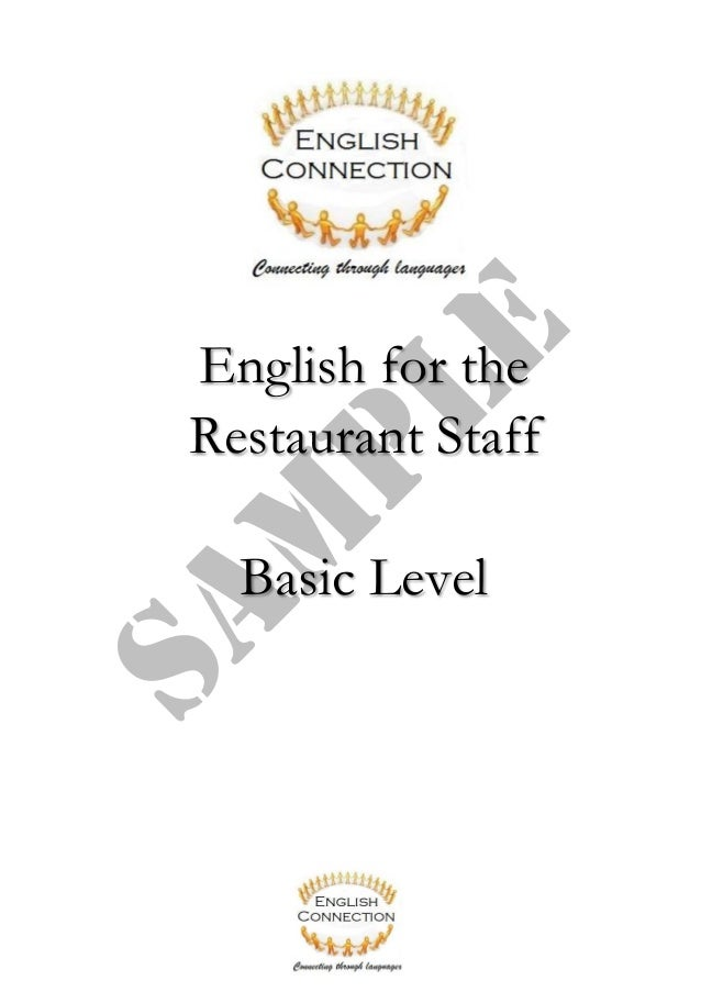 Sample English Learning Program for Waiters