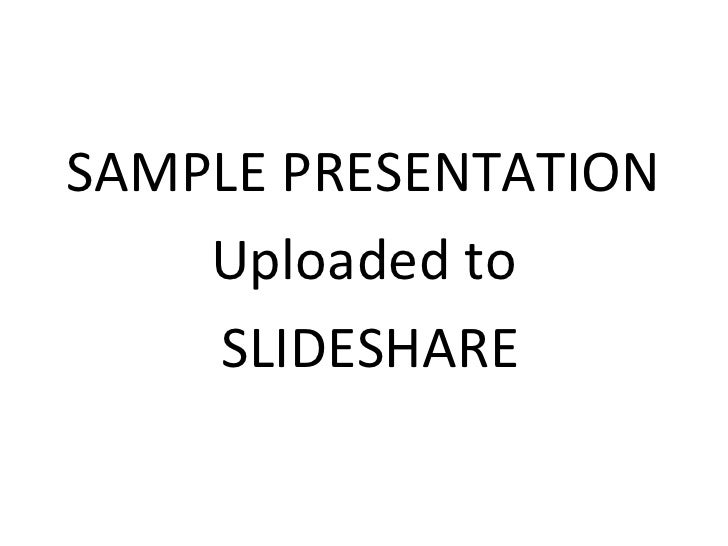 Sample For Slideshare