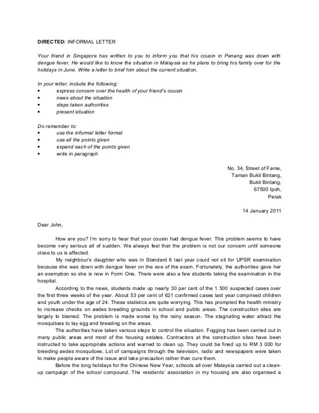 Essay formal letter job application spm