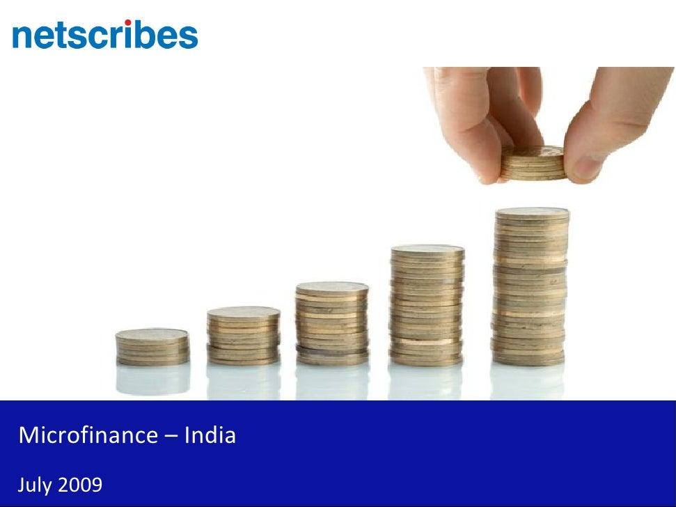 Microfinance – IndiaJuly 2009