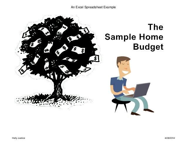 The Sample Home Budget Workbook