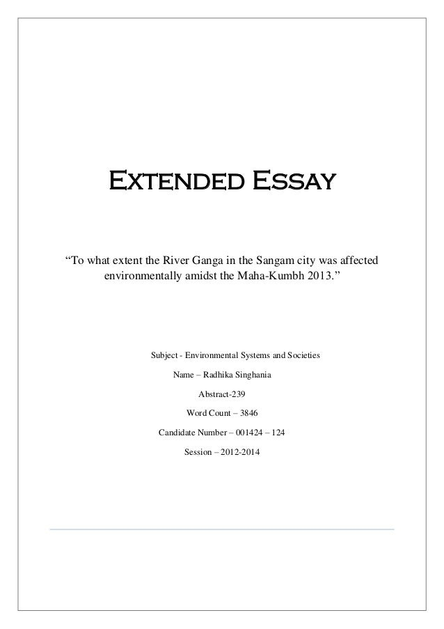design technology ib extended essay The extended essay is an in-depth study of a topic chosen design technology economics • every ib diploma student must submit an extended essay.