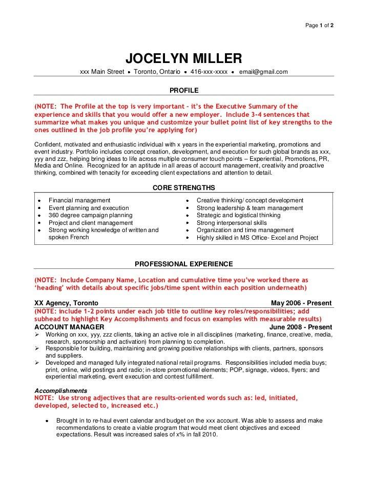 job resume definition