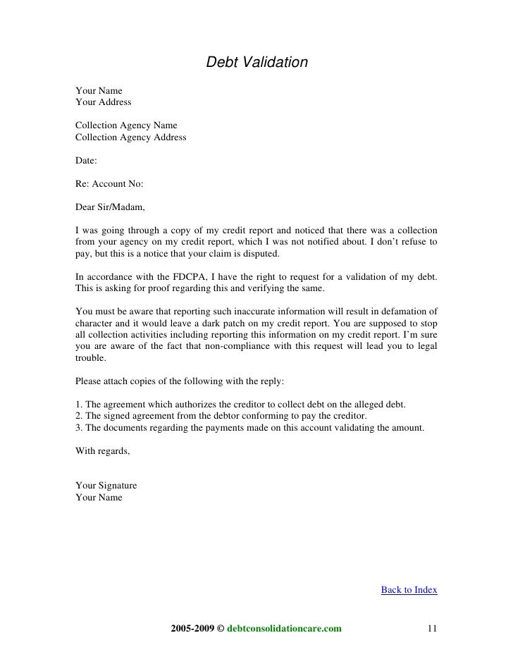 letter to creditor template