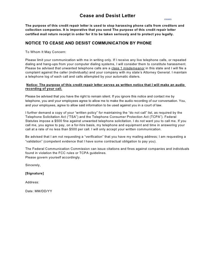 Cease And Desist Letter Sample Format Sample Letter Cease And Desist h2W97SWx
