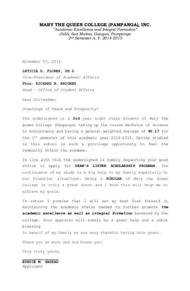 sample academic dean cover letter