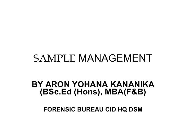 Sample managemen tby kananika