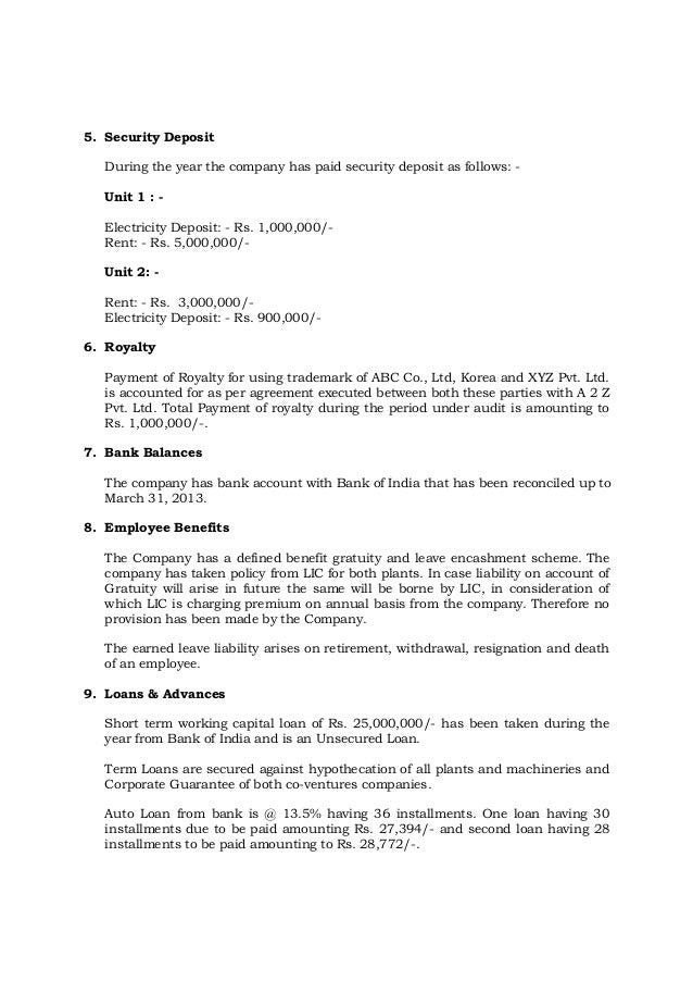 Management Representation Letter. Example Of A Representation ...