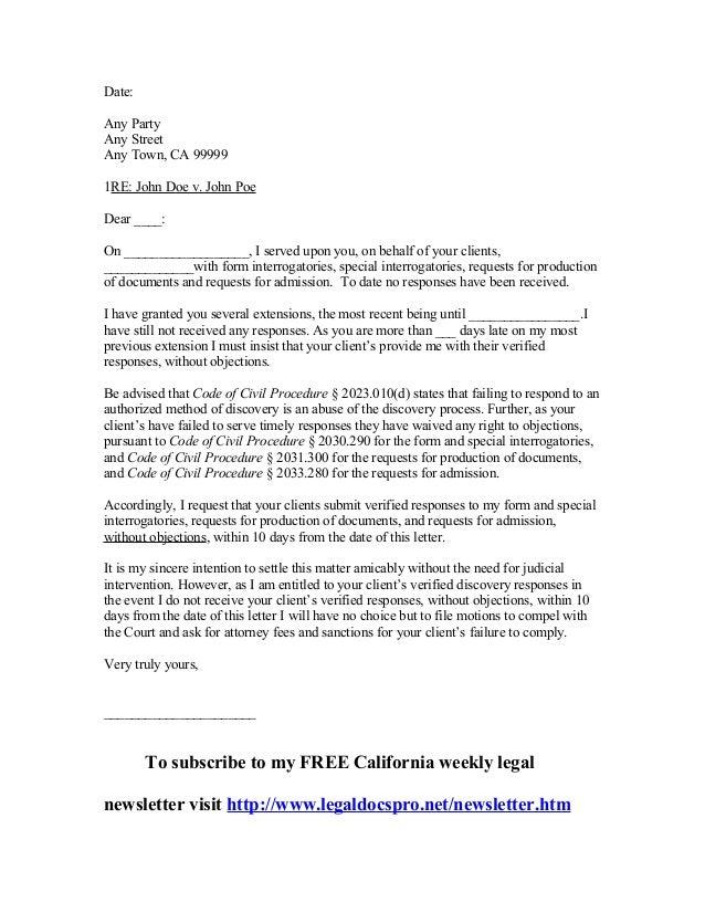 Expungement Letter