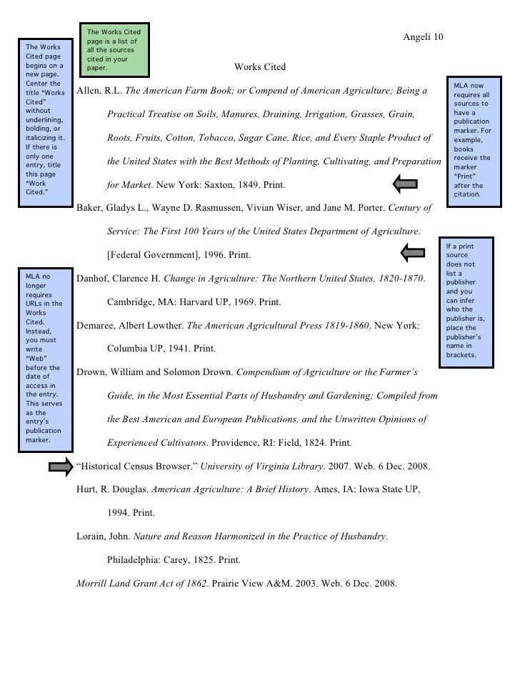 sample mla reference page