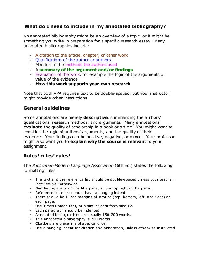 Annotated Bibliography Template Mla | | Best Business Template