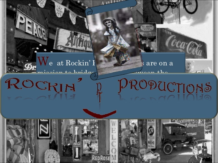 W e  at Rockin' PT Productions are on a mission to bridge the gaps between the  young and old by creating a cooperative sp...