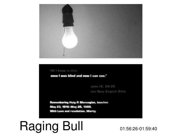 Sample oral presentation prep raging bull