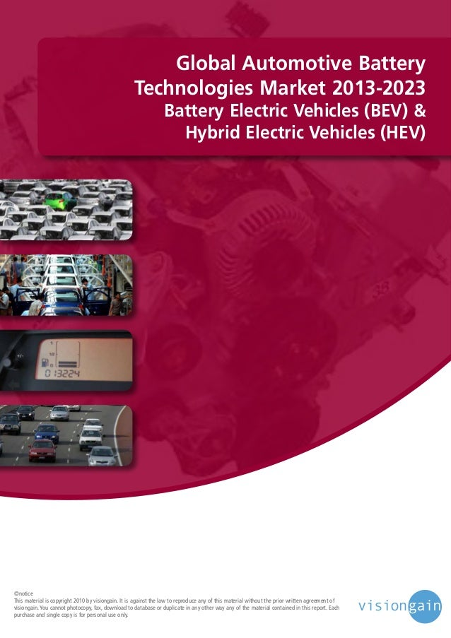 Global Automotive Battery Technologies Market 2013-2023