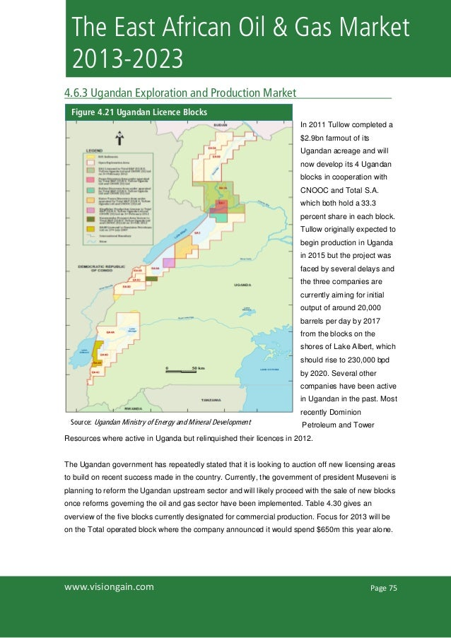Page 75www.visiongain.comThe East African Oil & Gas Market2013-20234.6.3 Ugandan Exploration and Production MarketIn 2011 ...