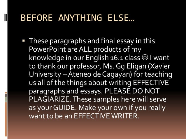 Essay Methods