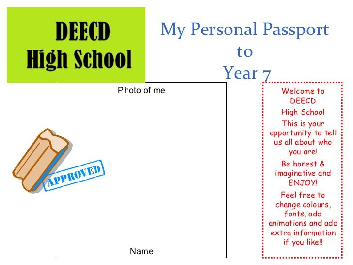 sample passport template .