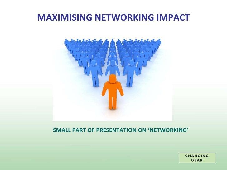 Sample Presentation Of Networking Presentation For Linked In