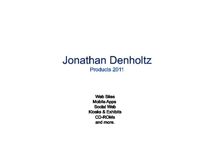 J.Denholtz - Products