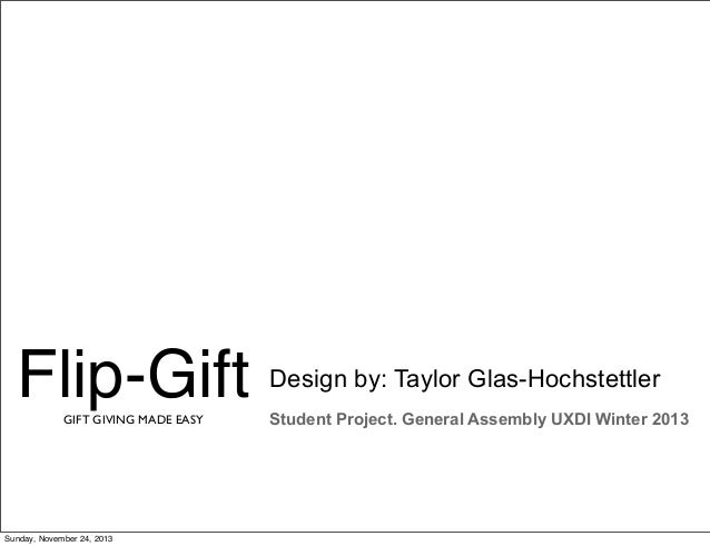 Flip-Gift, A Student Project