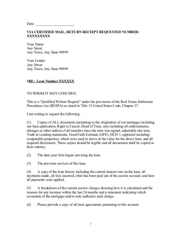 Escrow Letter Template Mdc